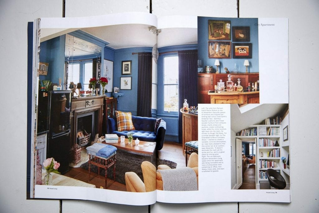Interior photography by Matt Clayton of Alex's Hoxton Flat in period living