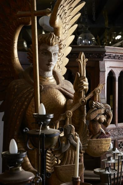 Church Antiques interiors photography by matt clayton - statue
