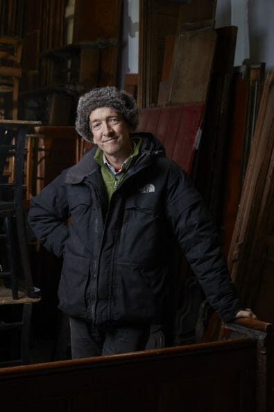 Church Antiques interiors photography by matt clayton - portrait of Lawrence Skilling