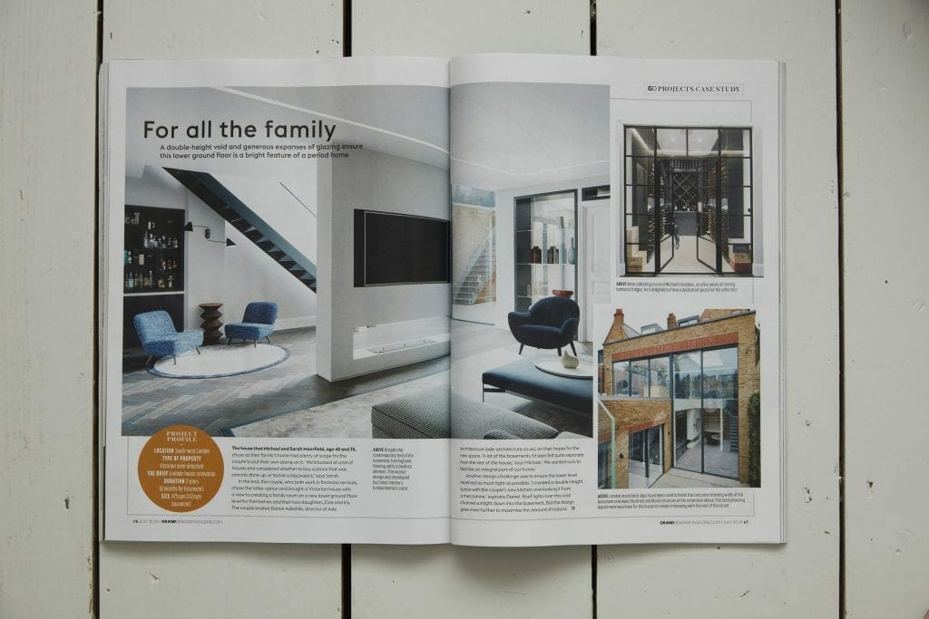 interior photography of Matt Clayton in Grand Designs Magazine