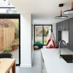 Architectural photography of extension to family home north london