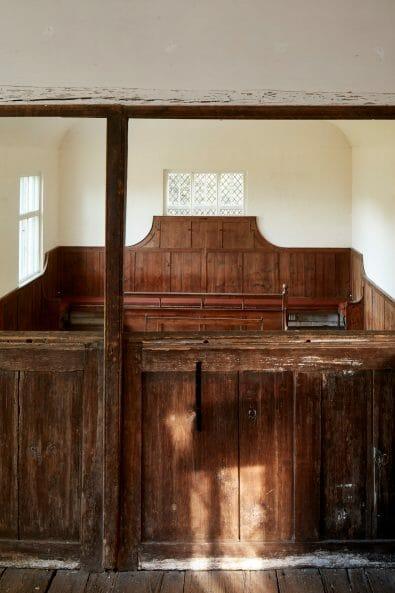 Interior photography of Jordans Quaker Friends Meeting house by Matt Clayton