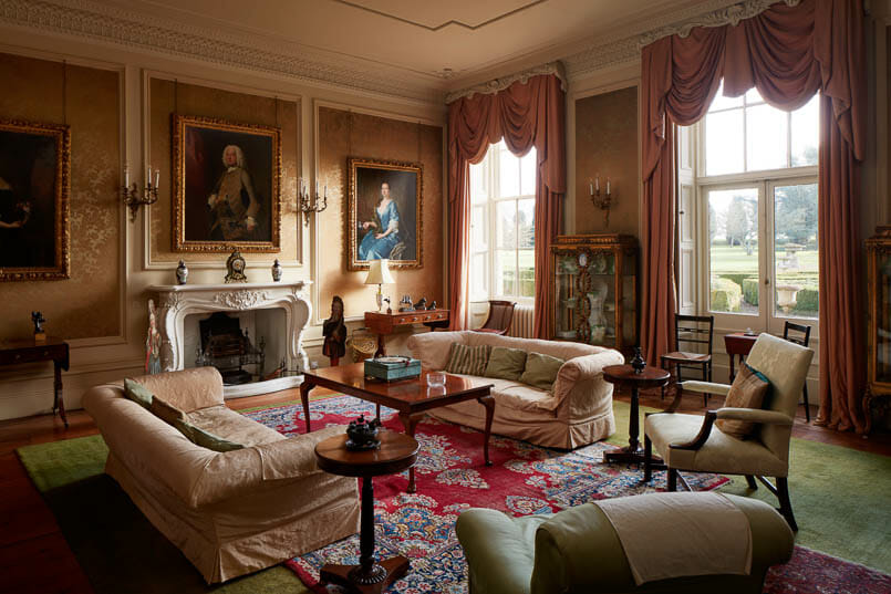 drawing room Interior photography of Lamport Hall by Matt Clayton