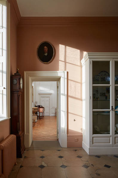 Pink Hallway Interior photography of Lamport Hall by Matt Clayton